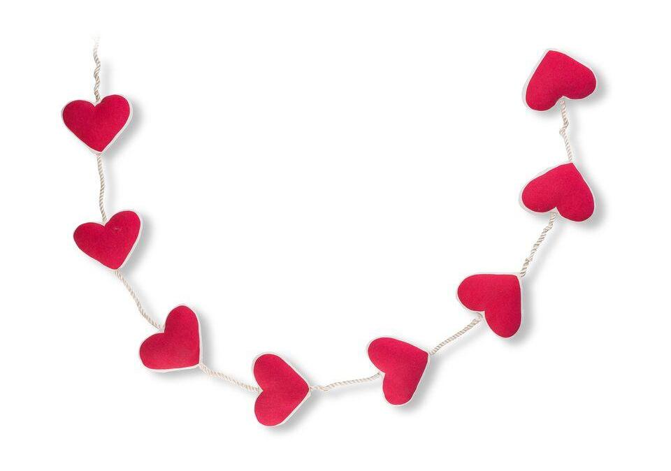 Valentine Red Hearts Garland