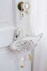 Curated Nest: Nurseries and Design - Handmade White Swan Mobile with Metallic Leather - Accessories