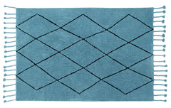 Washable Bereber Rug - Petroleum