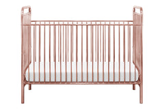 Jubilee 3-in-1 Convertible Metal Crib - Pink Chrome