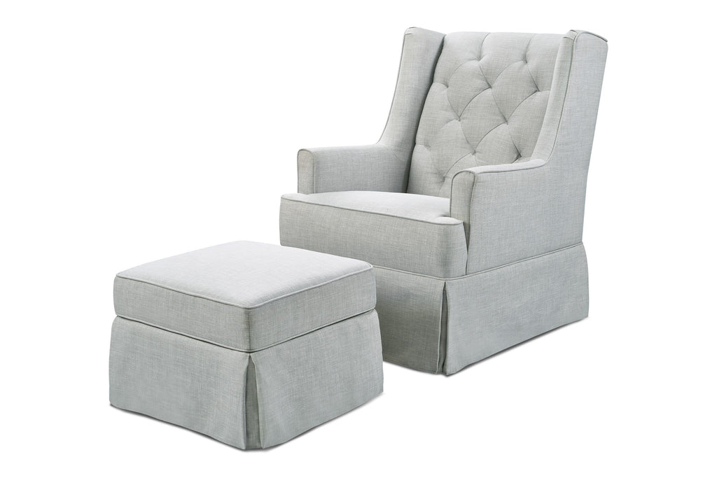 Sadie Swivel Glider with Storage Ottoman