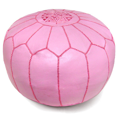 Curated Nest: Nurseries and Design - Pink Moroccan Pouf - Pouf