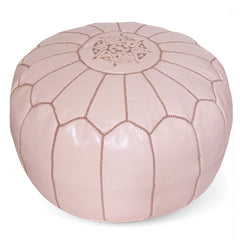 Light Pink Moroccan Pouf