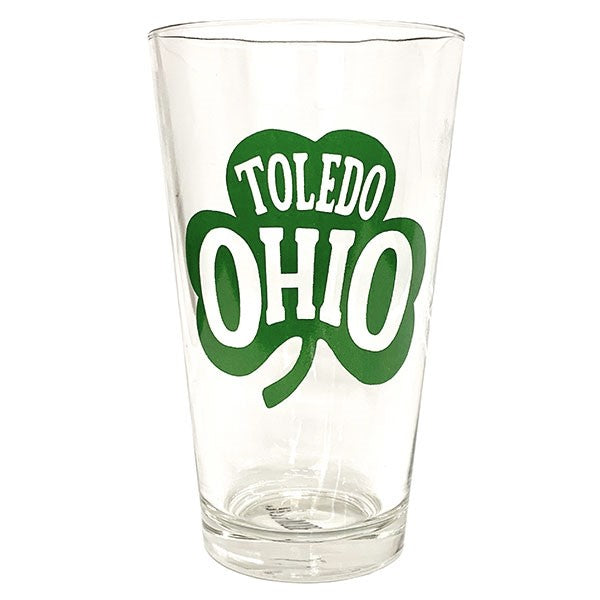 Toledo Ohio Shamrock Pint Glass