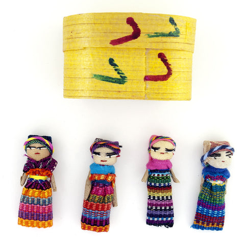 Worrydoll.com Four Large Worry Dolls In A Box