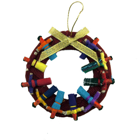 Worrydoll.com Worry Doll Wreath Ornament