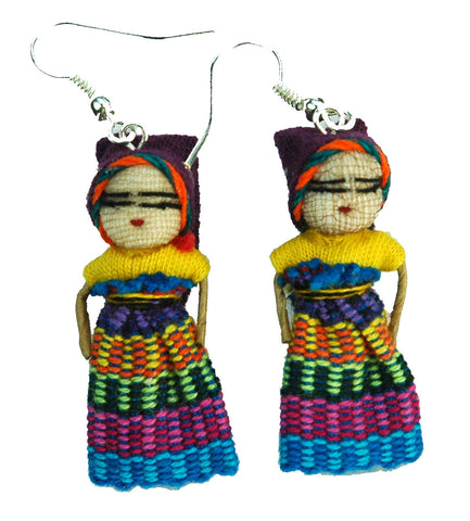 Worrydoll.com Worry Doll Earrings hand made