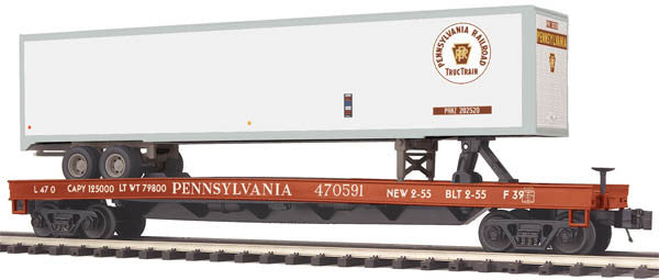 "MTH 20-95157 - Flat Car ""Pennsylvania"" w/ 48' Trailer"
