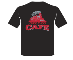 "T-Shirt - ""The Choo Choo Cafe"" Adult"
