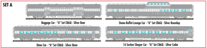 "Atlas O 3009017A California Zephyr ""A"" CB&Q 4-Car Set  - Commemorative Edition - 2 Rail"
