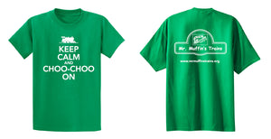 "T-Shirt - ""Keep Calm and Choo-Choo On"" Youth (Green)"