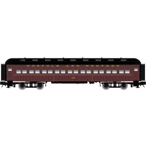 "Atlas O 2001112 - Trainman - 60' Coach ""Norfolk & Western"" - New Road Numbers"