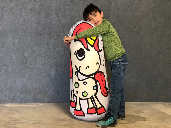 Inflatable Punching Bag Kids Gift Unicorn Toy Pouty Pants