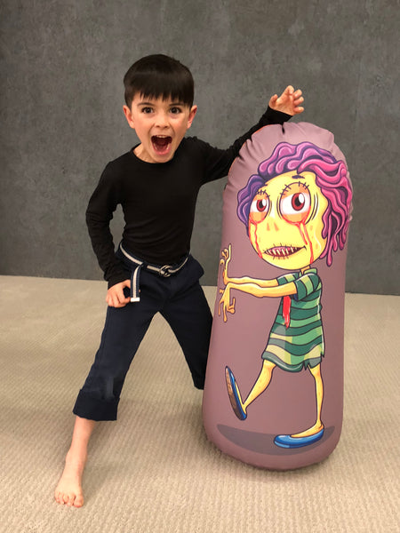 Inflatable Punching Bag Kids Gift Zombie Toy Weird Girl