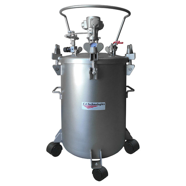 C.A. Technologies 12.5 Gallon Stainless Steel Paint Pressure Tank with Pneumatic Agitation (mixer)