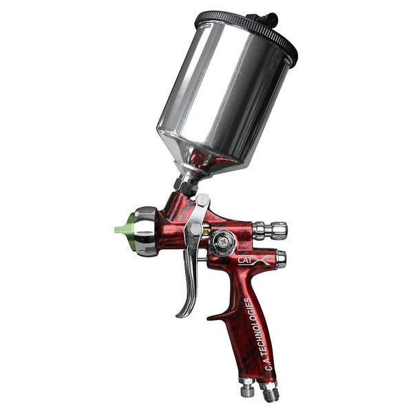 "C.A. Technologies CAT-X Gravity Feed HVLP & RP Spray Gun (Model ""M"" - Red Marble)"