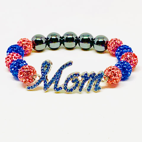 Light Blue Crystal Jack & Jill Mom Bracelet