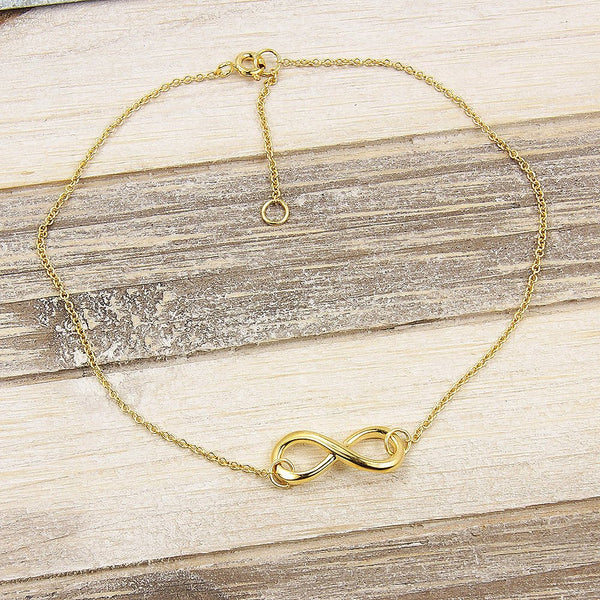 Gold Vermeil Sterling Silver Infinity Anklet
