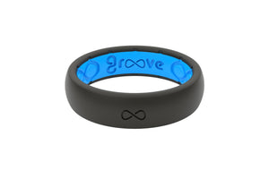 Black Womens Silicone Rings