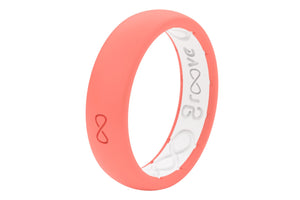 Coral Silicone Wedding Bands
