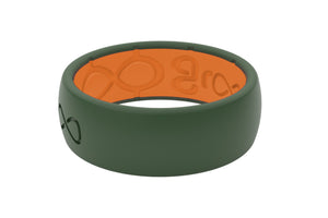 Groove Original Moss Green Mens Silicone Rings
