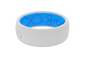 Groove Silicone Wedding Bands Snow