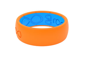 Groove Silicone Wedding Rings Blaze Orange