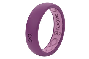 Lilac Womens Silicone Wedding Rings