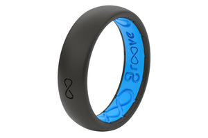 Midnight Black Silicone Wedding Rings