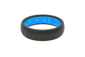 Midnight Black Womens Silicone Rings