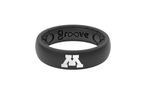 Minnesota Black Silicone Rings