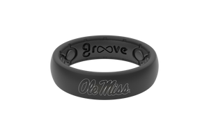 Mississippi Black Silicone Rings