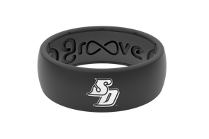 San Diego Black Silicone Rings