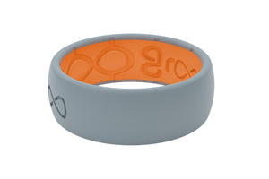 Storm Grey Mens Silicone Rings
