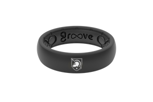 Thin Black Army Silicone Rings