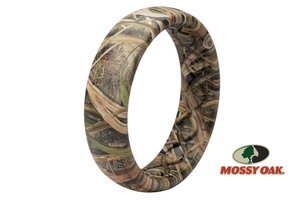 Thin Blades Camo Silicone Wedding Rings Mossy Oak
