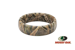 Mossy Oak Thin Blades Camo Silicone Wedding Rings