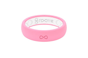 Thin Pink Silicone Wedding Bands