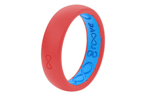 Thin Raspberry Silicone Rings