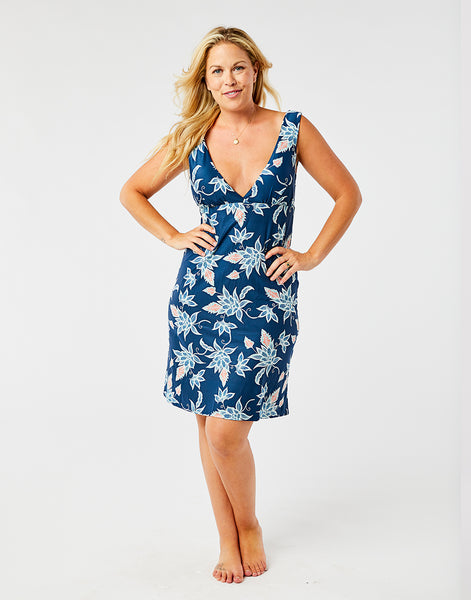 Cayman Dress: Batik Floral