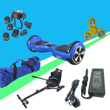 Load image into Gallery viewer, 6.5 Chrome Blue Disco App Hoverboard Led + Hoverkart Bundle - 30% sale Offer - Segwayfun