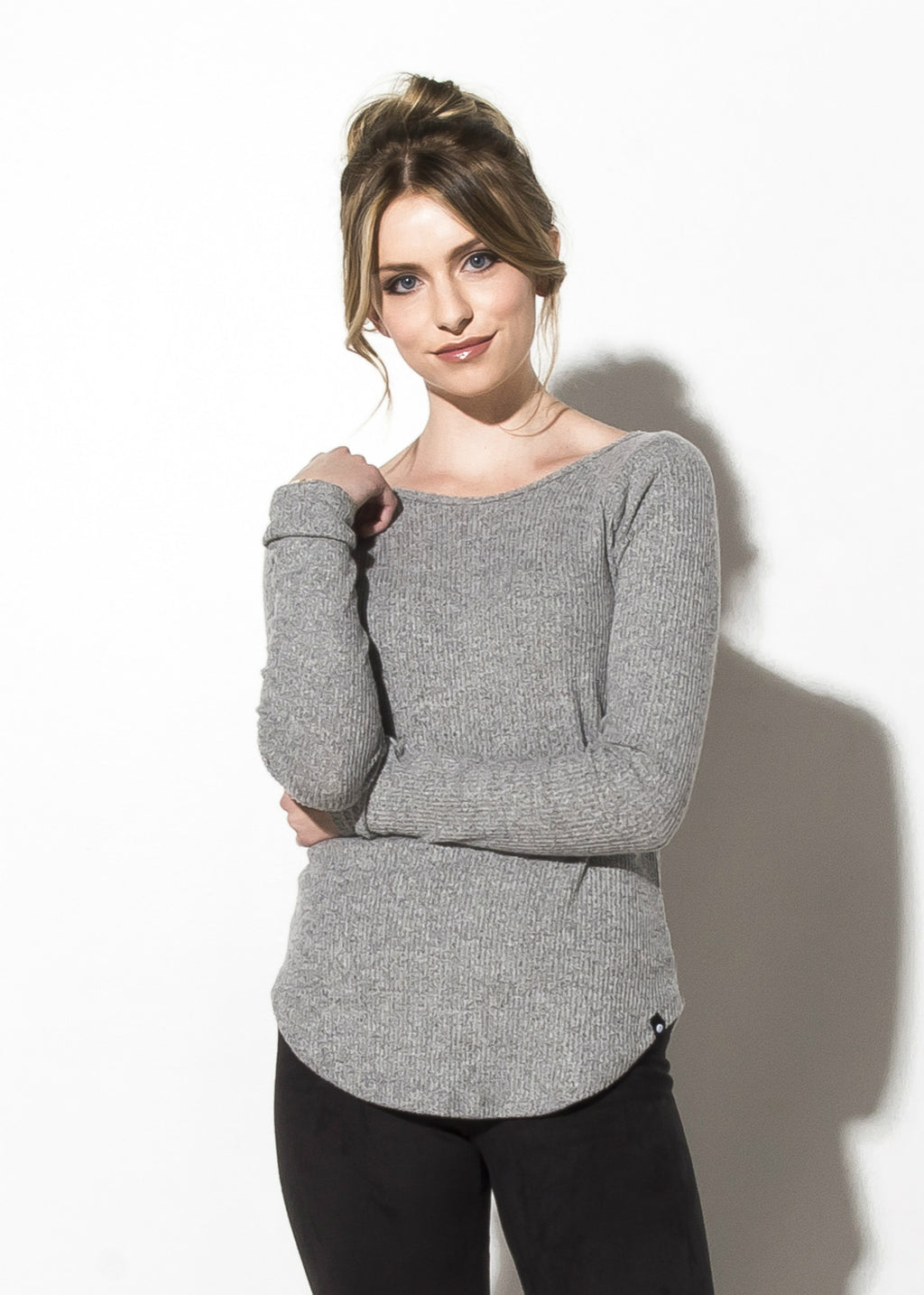 Brushed Rib Fitted Sweater