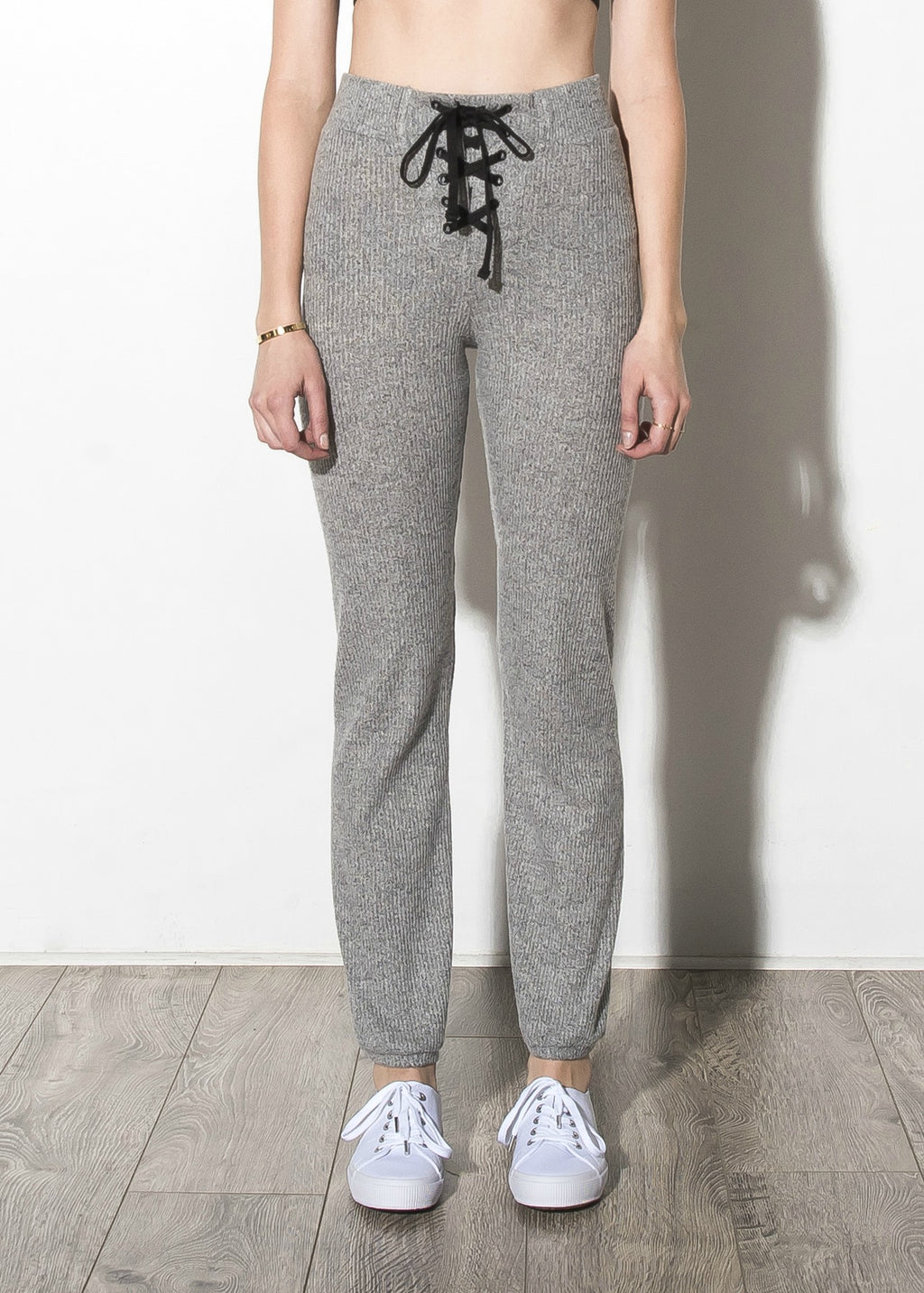 Brushed Rib Skinny Sweatpants