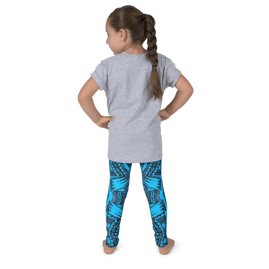 Kid's Tefiti Tribal Tattoo Legging (Ocean Blue)