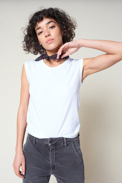 Muscle Tank <br> White
