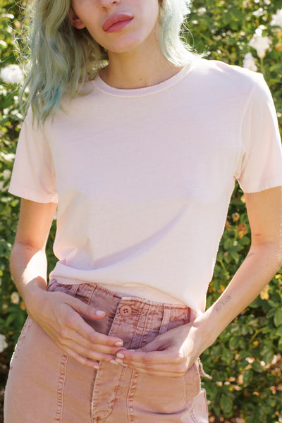 Classic Tee <br> Pale Pink