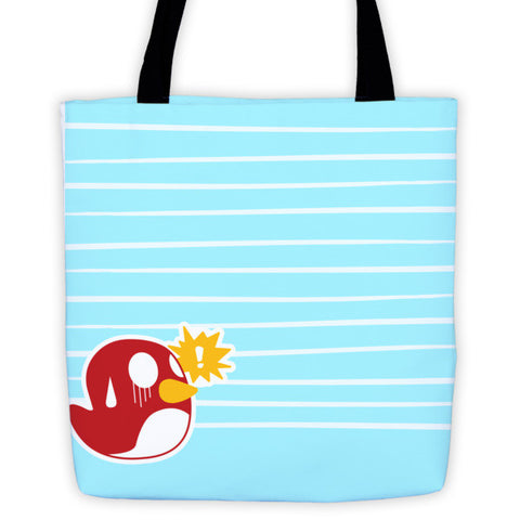 Battle Tails Bird Tote front