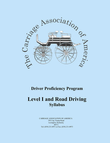 CAA Driver Proficiency Syllabus - Level 1 + Road Driving