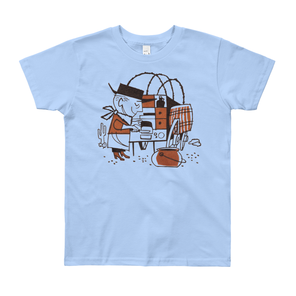 """Cowboy Cookie""  Kids & Youth Short Sleeve T-Shirt"
