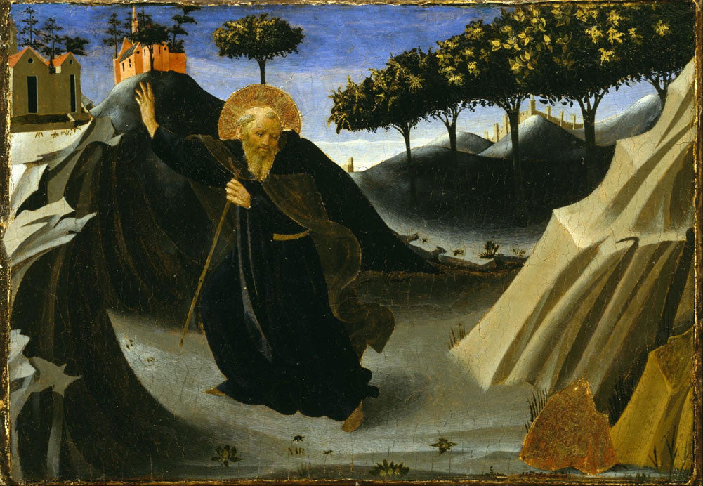 Angelico Fra - Saint Anthony Abbot Shunning the Mass of Gold